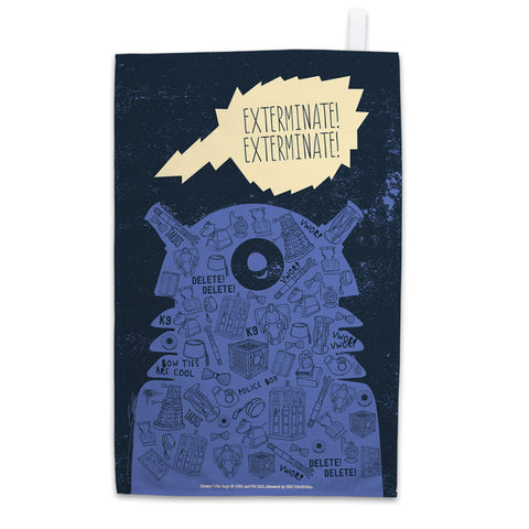 Who Home Handmade Dalek Tea Towel