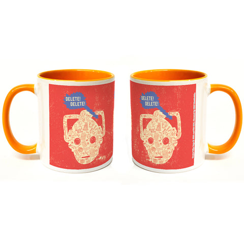 Who Home Handmade Cyberman Colour Insert Mug