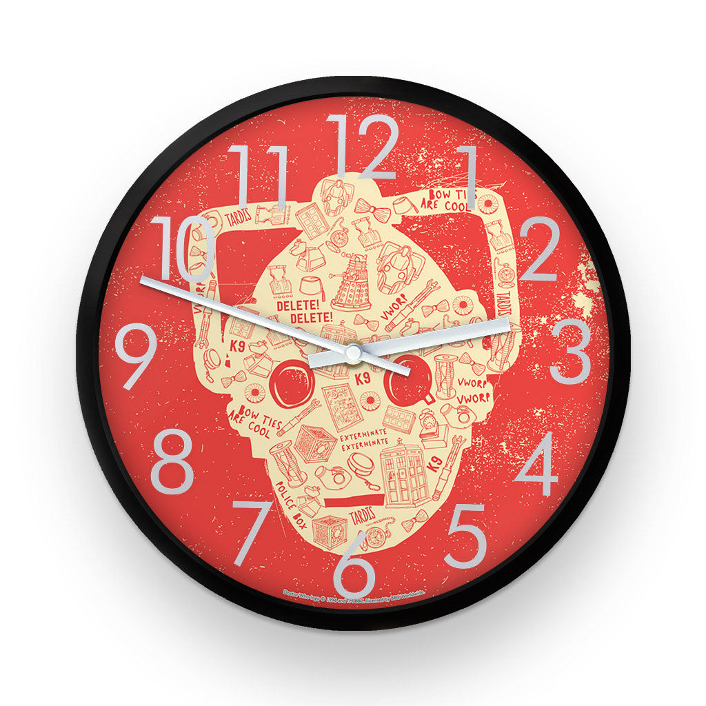 Who Home Handmade Cyberman Clock