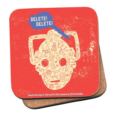 Who Home Handmade Cyberman Coaster
