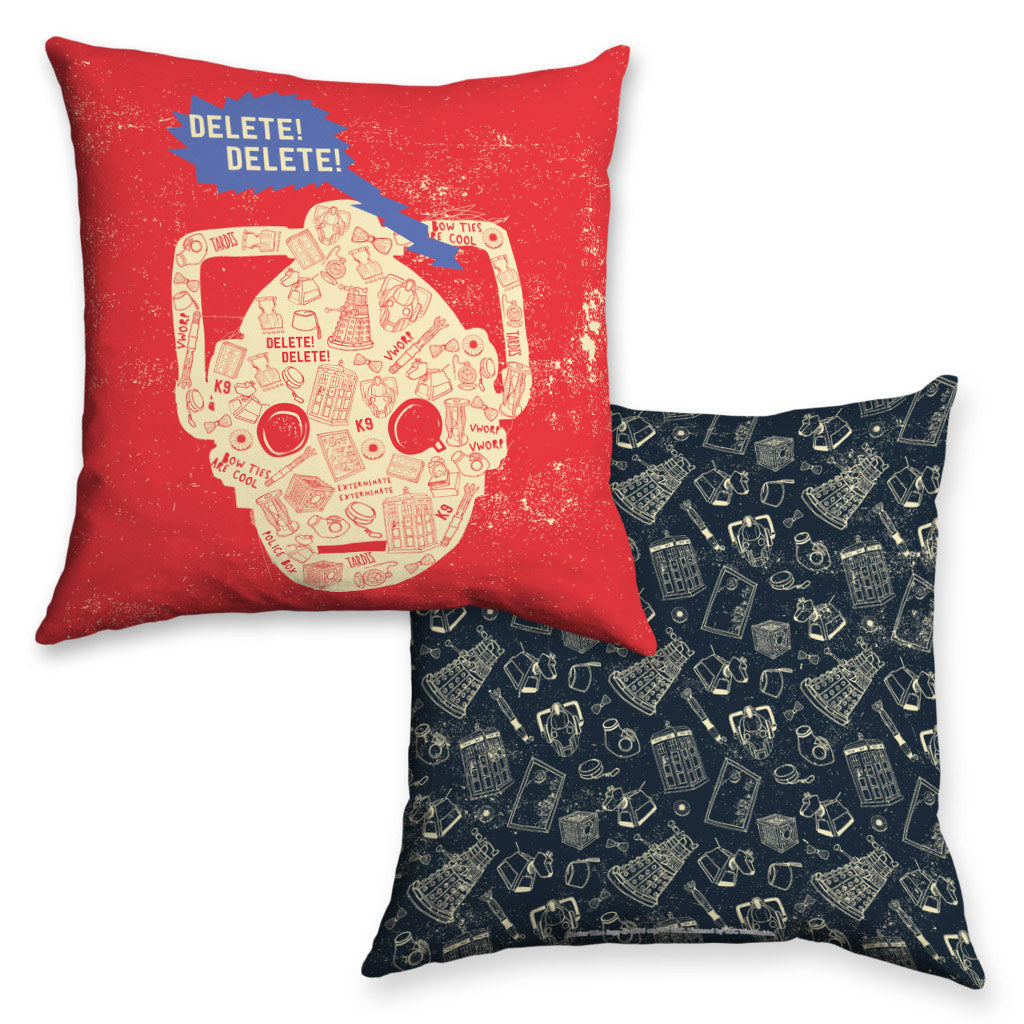 Who Home Handmade Cyberman Cushion