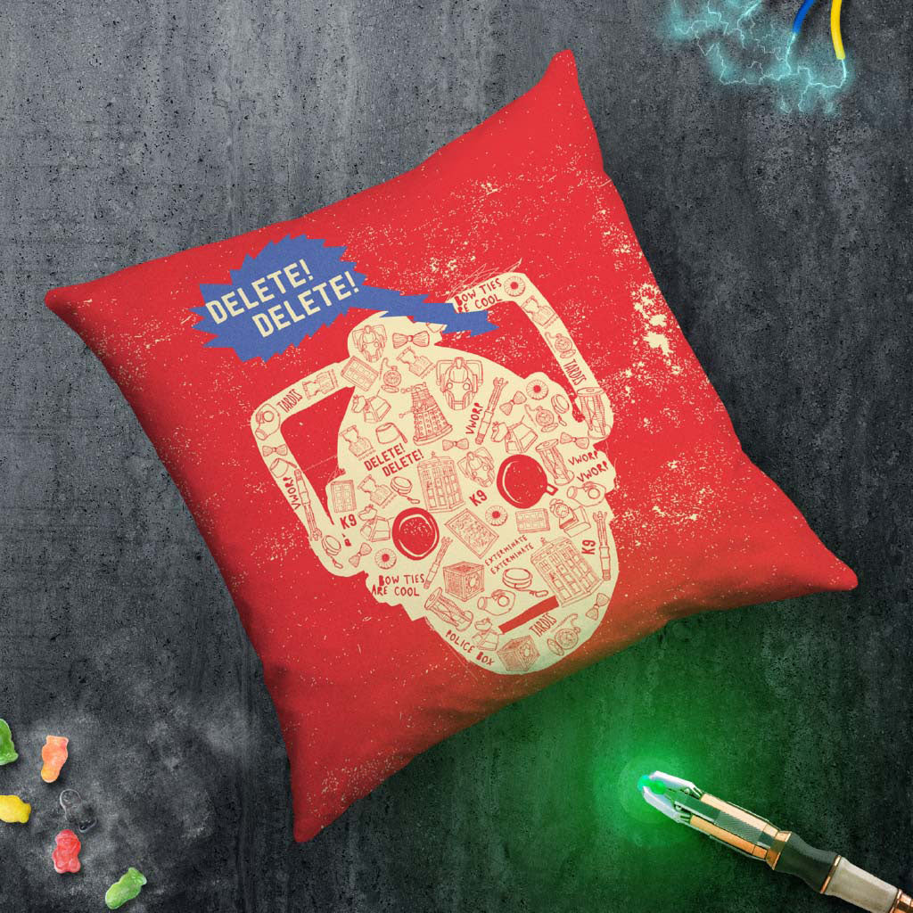 Who Home Handmade Cyberman Cushion (Lifestyle)