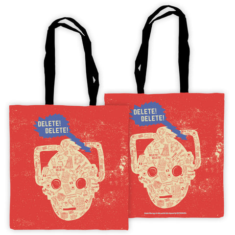 Who Home Handmade Cyberman Edge to Edge Tote