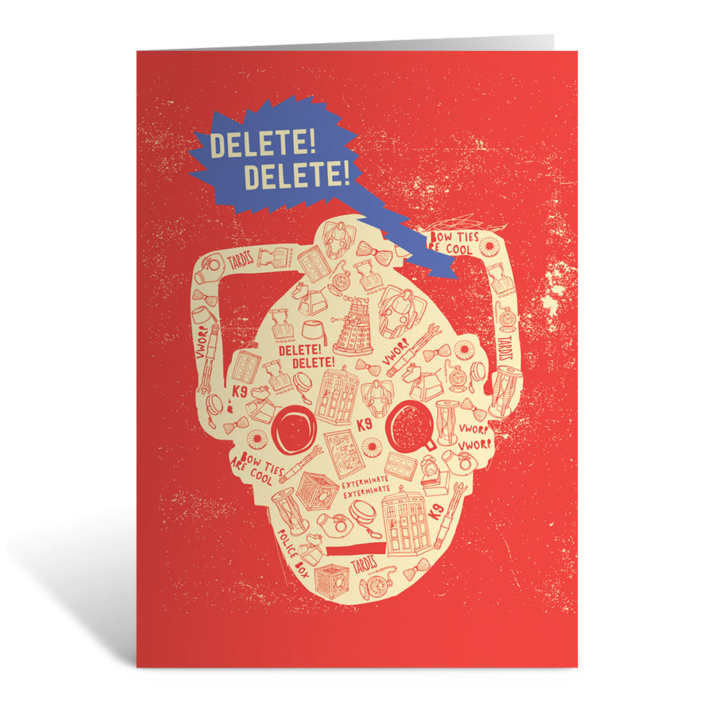 Who Home Handmade Cyberman Greeting Card