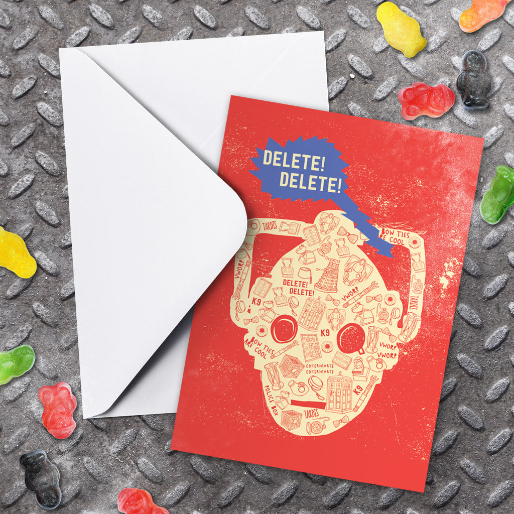 Who Home Handmade Cyberman Greeting Card (Lifestyle)