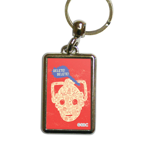 Who Home Handmade Cyberman Metal Keyring