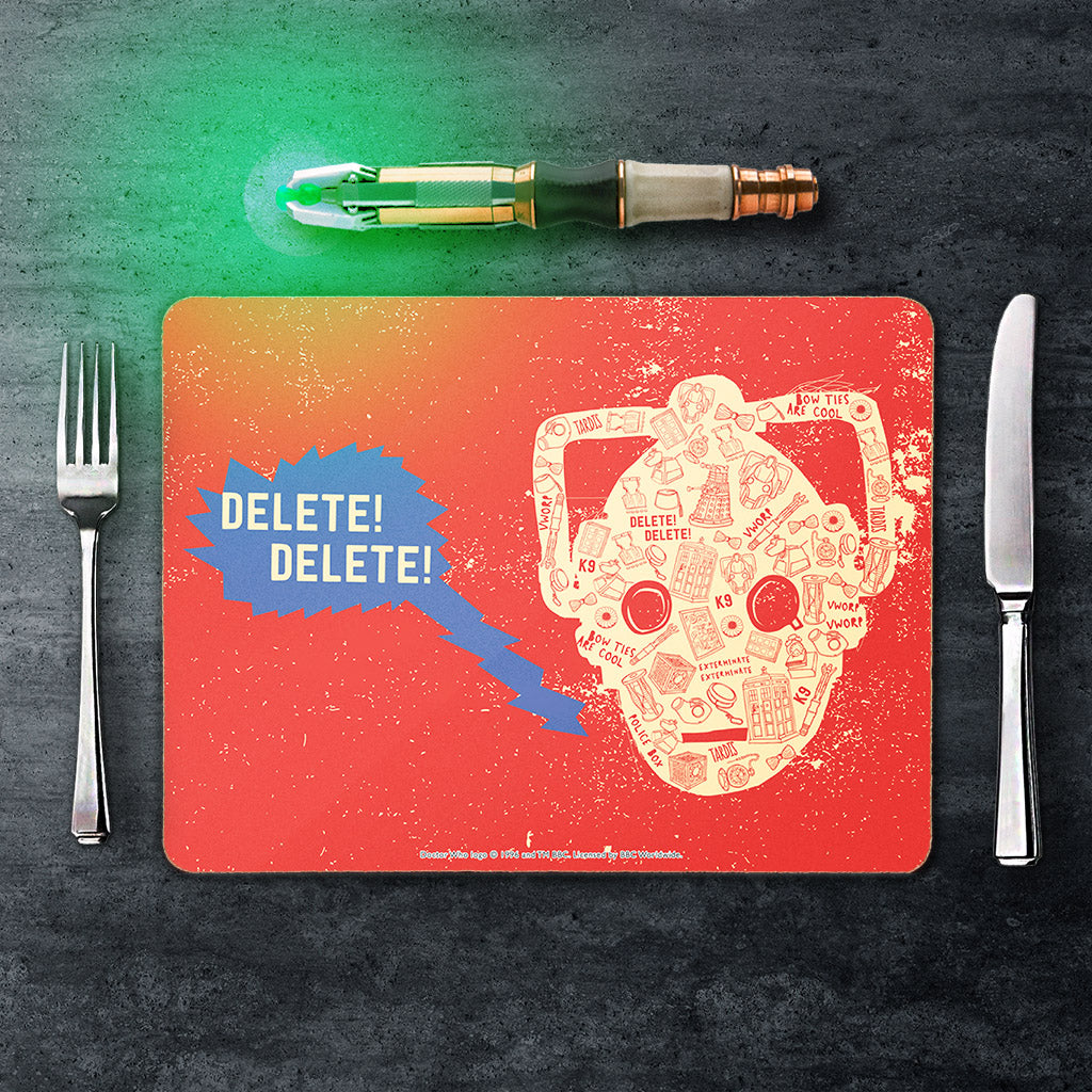 Who Home Handmade Cyberman Placemat (Lifestyle)