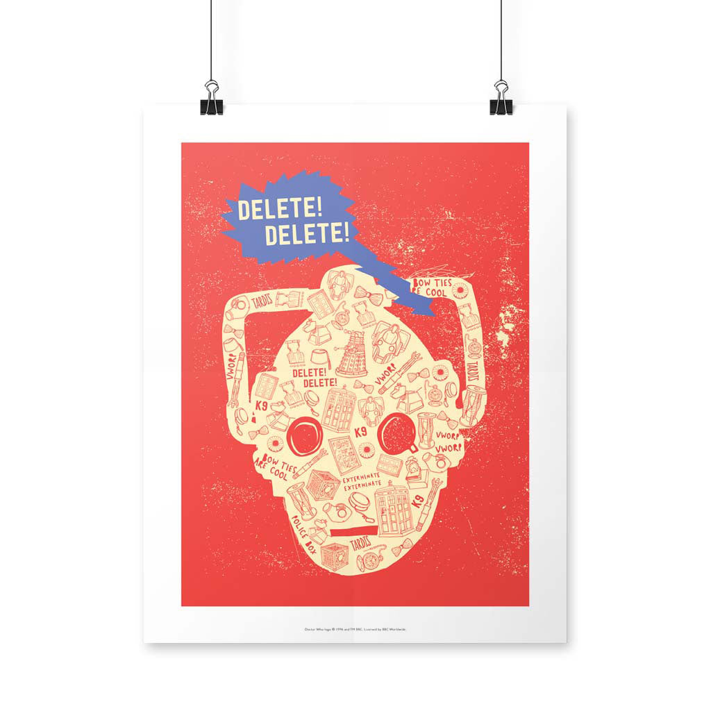 Who Home Homemade Cyberman Art Print