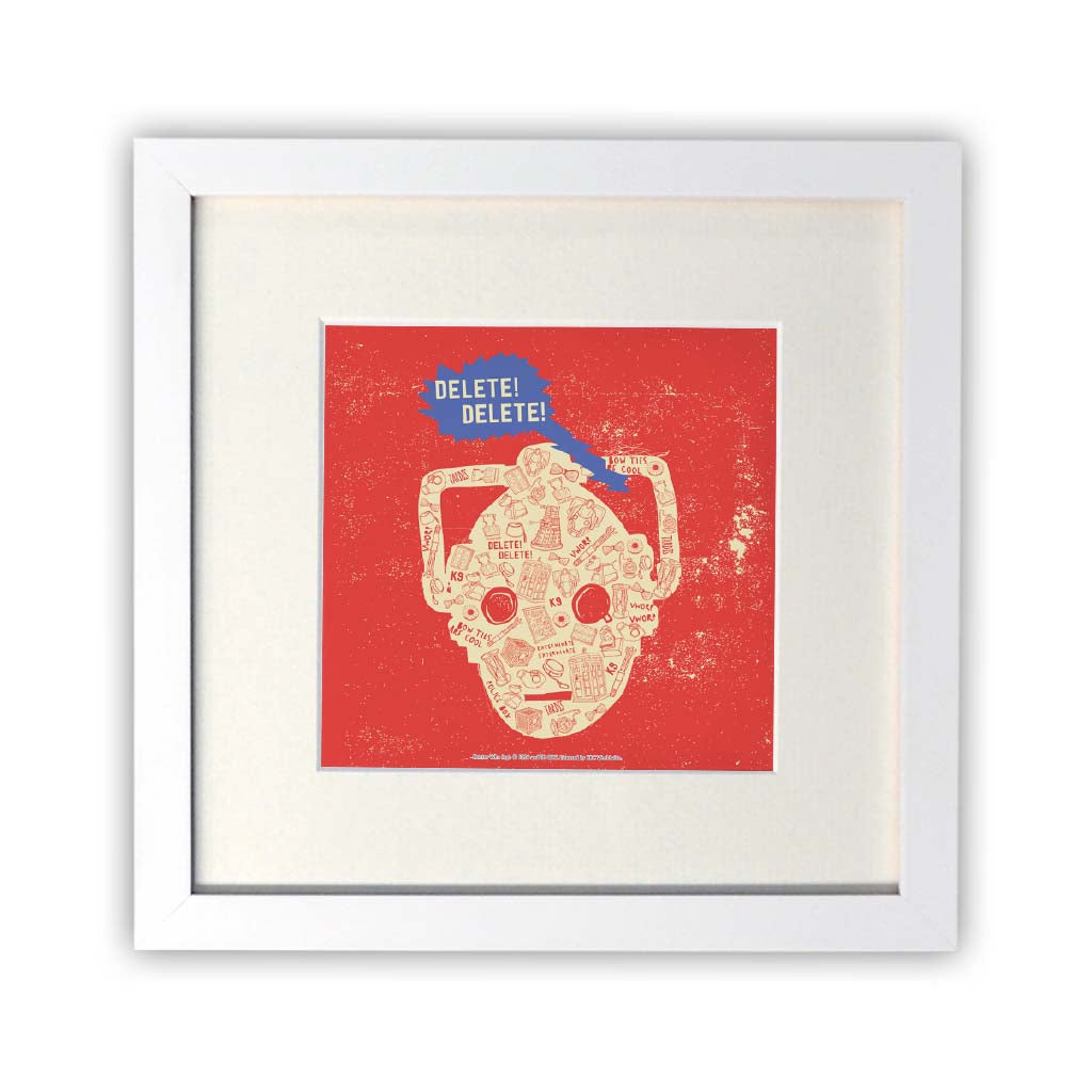 Who Home Homemade Cyberman Square White Framed Print