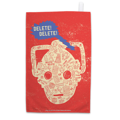 Who Home Handmade Cyberman Tea Towel