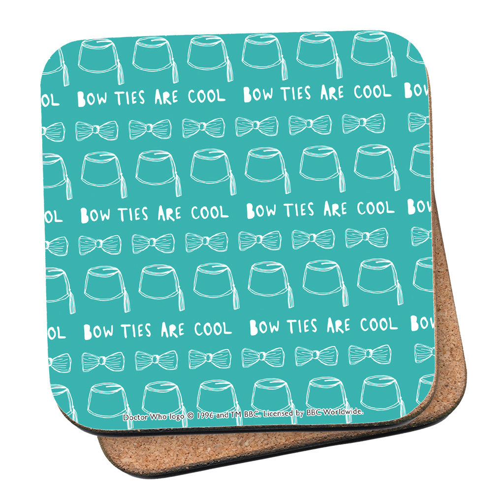 Who Home Handmade 'Bow Ties Are Cool' Coaster