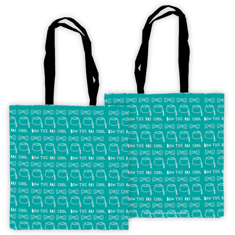 Who Home Handmade 'Bow Ties Are Cool' Edge to Edge Tote