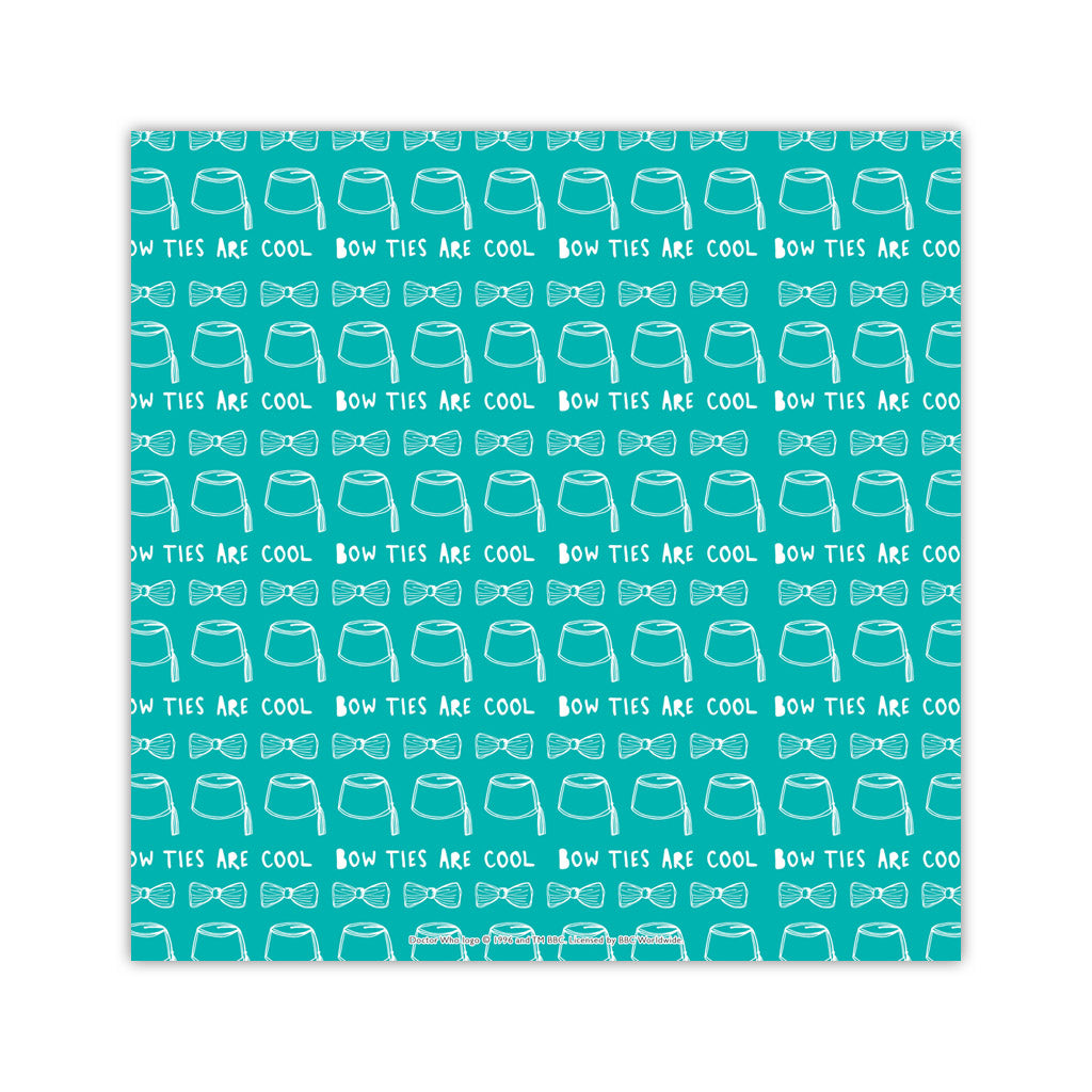 Who Home Handmade 'Bow Ties Are Cool' Square Art Print