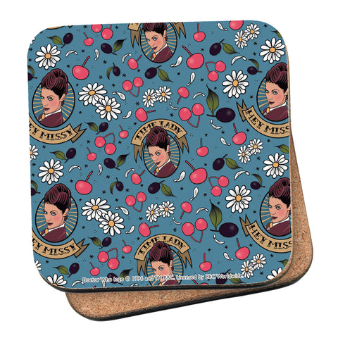 Pinup Time Lady Pattern Coaster