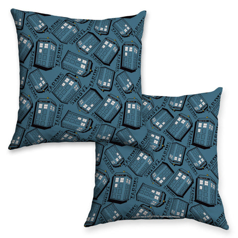 Pinup Tardis Pattern Cushion