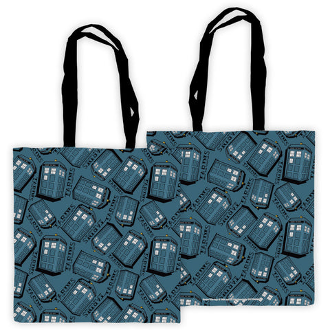 Pinup Tardis Pattern Edge to Edge Tote