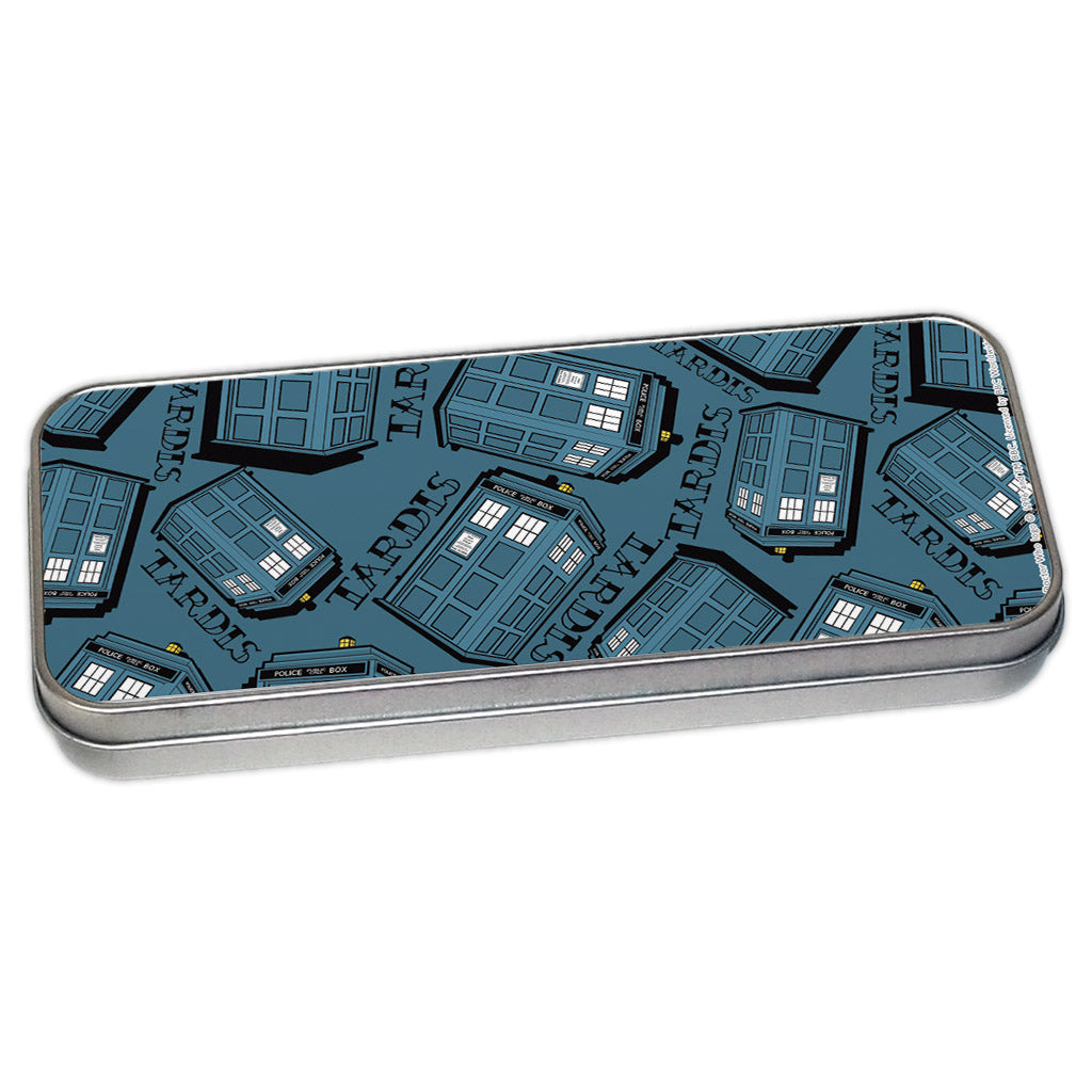 Pinup Tardis Pattern Pencil Tin