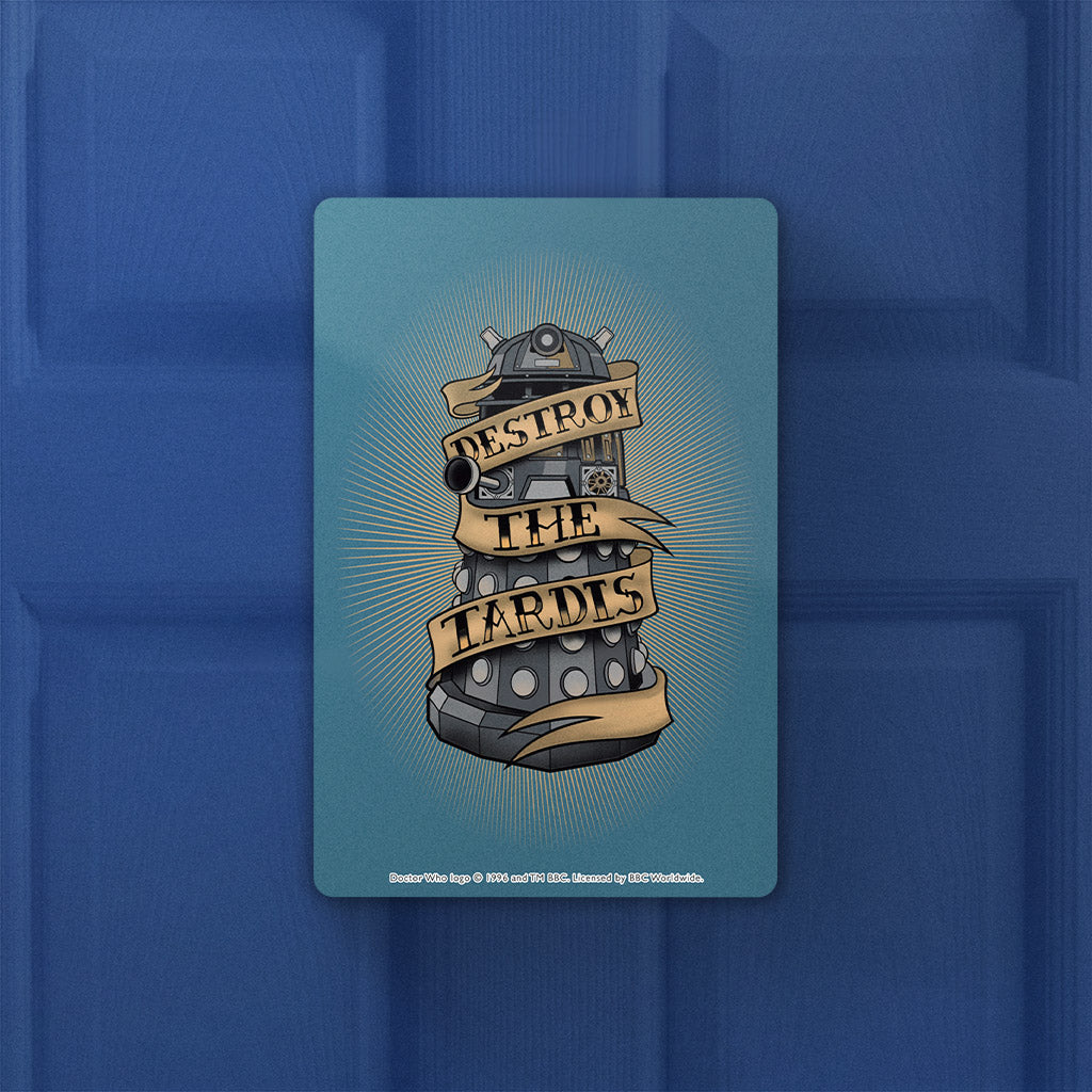 Pinup Dalek Door Plaque (Lifestyle)