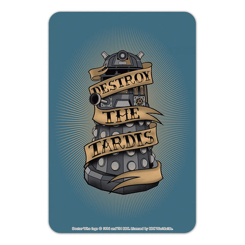 Pinup Dalek Door Plaque