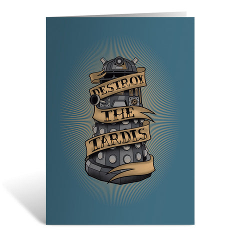 Pinup Dalek Greeting Card