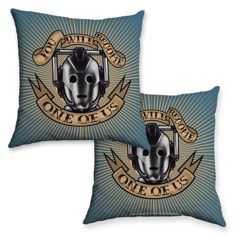 Pinup Cyberman Cushion