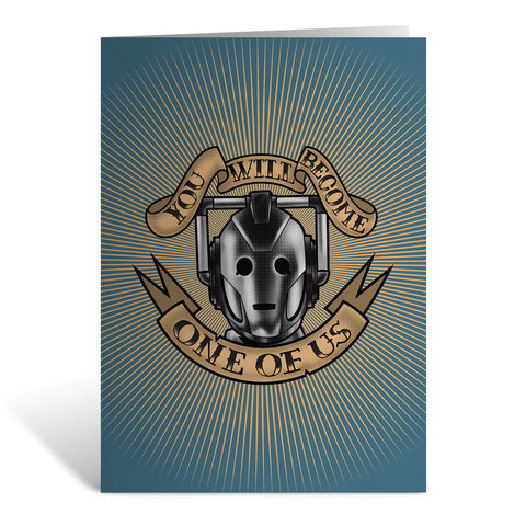 Pinup Cyberman Greeting Card