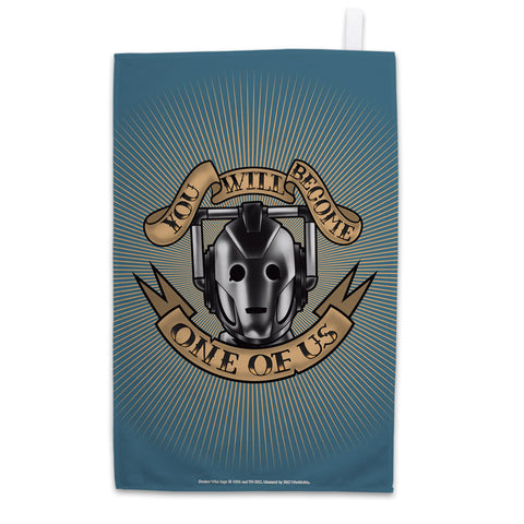 Pinup Cyberman Tea Towel
