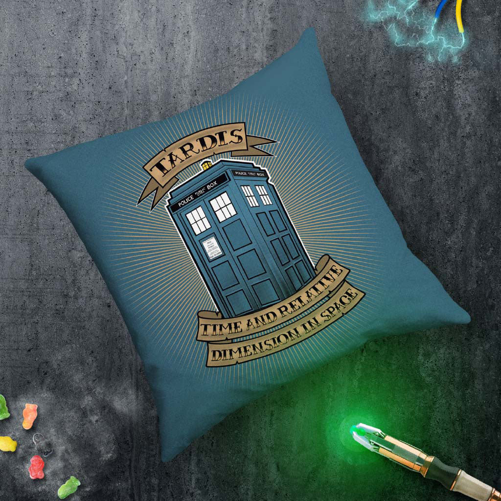 Pinup Tardis Cushion (Lifestyle)