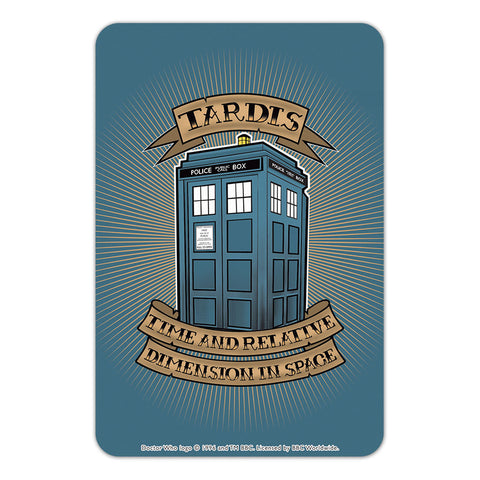 Pinup Tardis Door Plaque