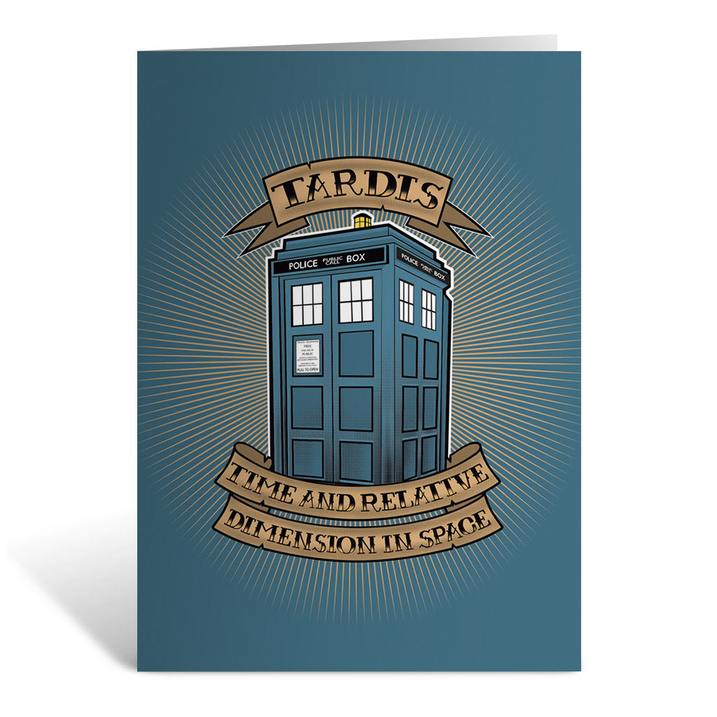 Pinup Tardis Greeting Card