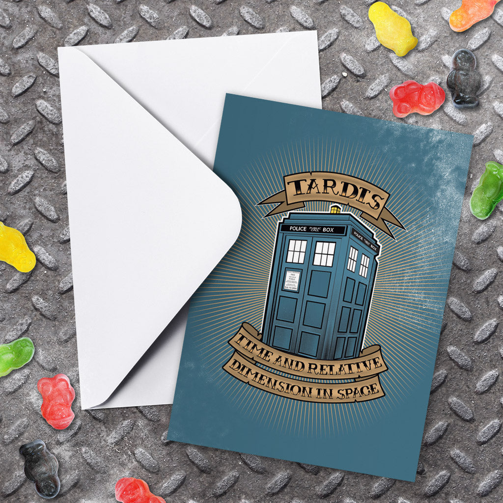 Pinup Tardis Greeting Card (Lifestyle)