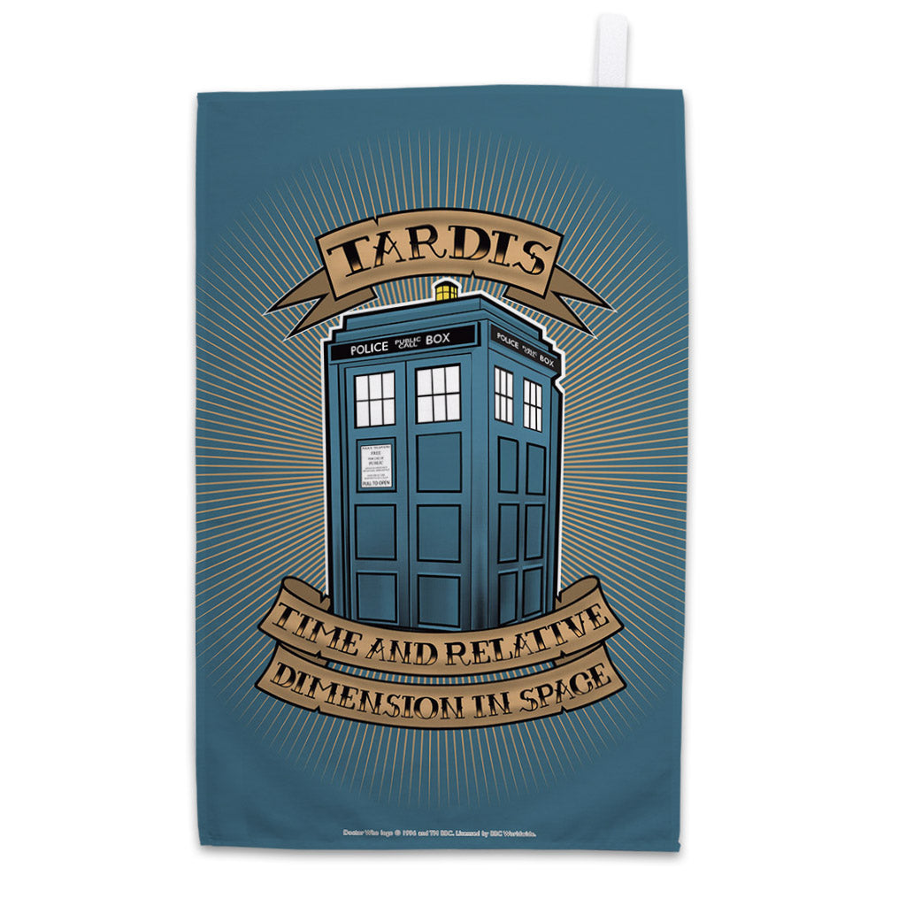 Pinup Tardis Tea Towel