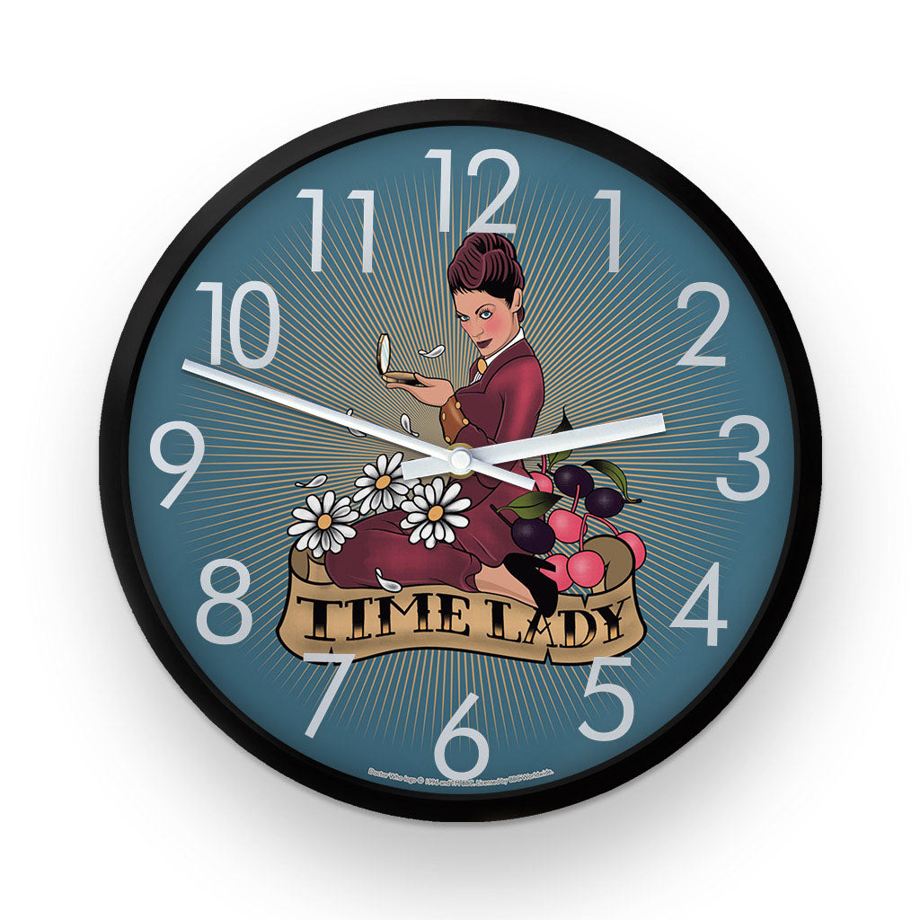 Pinup Time Lady Clock