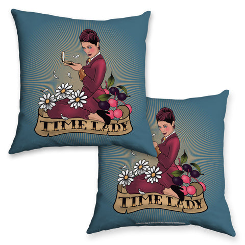 Pinup Time Lady Cushion