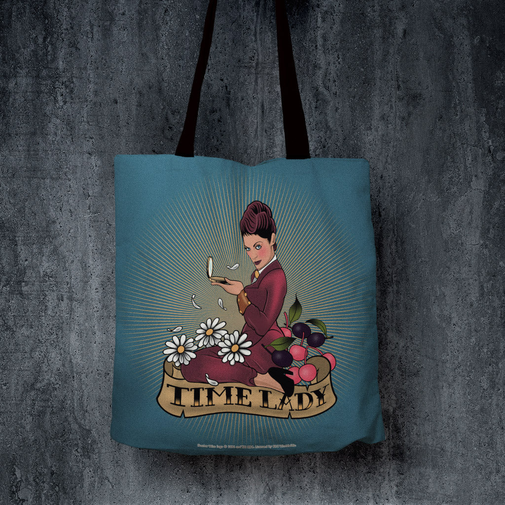 Pinup Time Lady Edge to Edge Tote (Lifestyle)