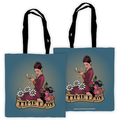 Pinup Time Lady Edge to Edge Tote