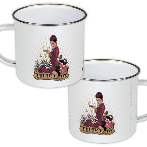 Pinup Time Lady Enamel Mug