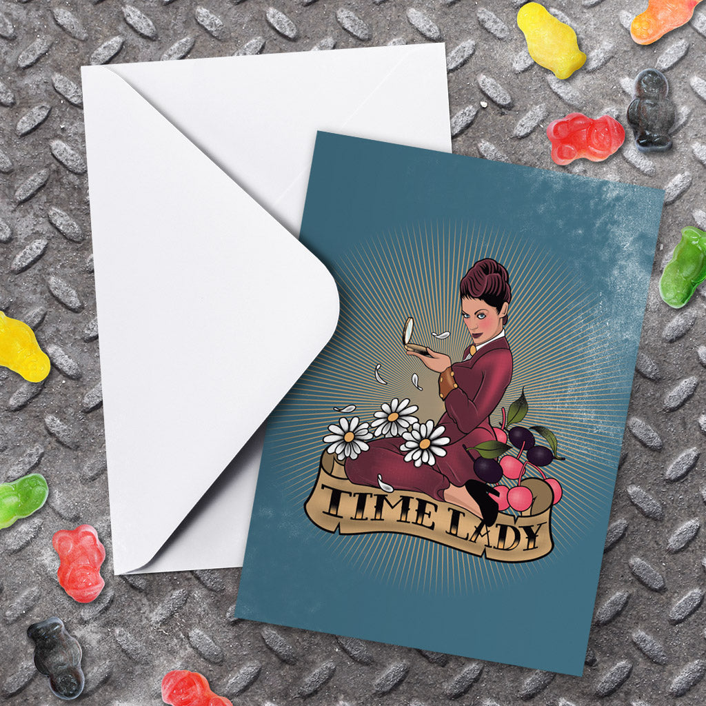 Pinup Time Lady Greeting Card (Lifestyle)