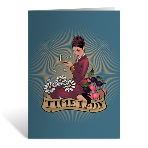 Pinup Time Lady Greeting Card