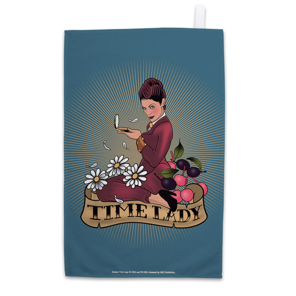Pinup Time Lady Tea Towel