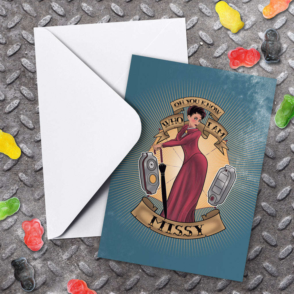 Pinup Missy Greeting Card (Lifestyle)