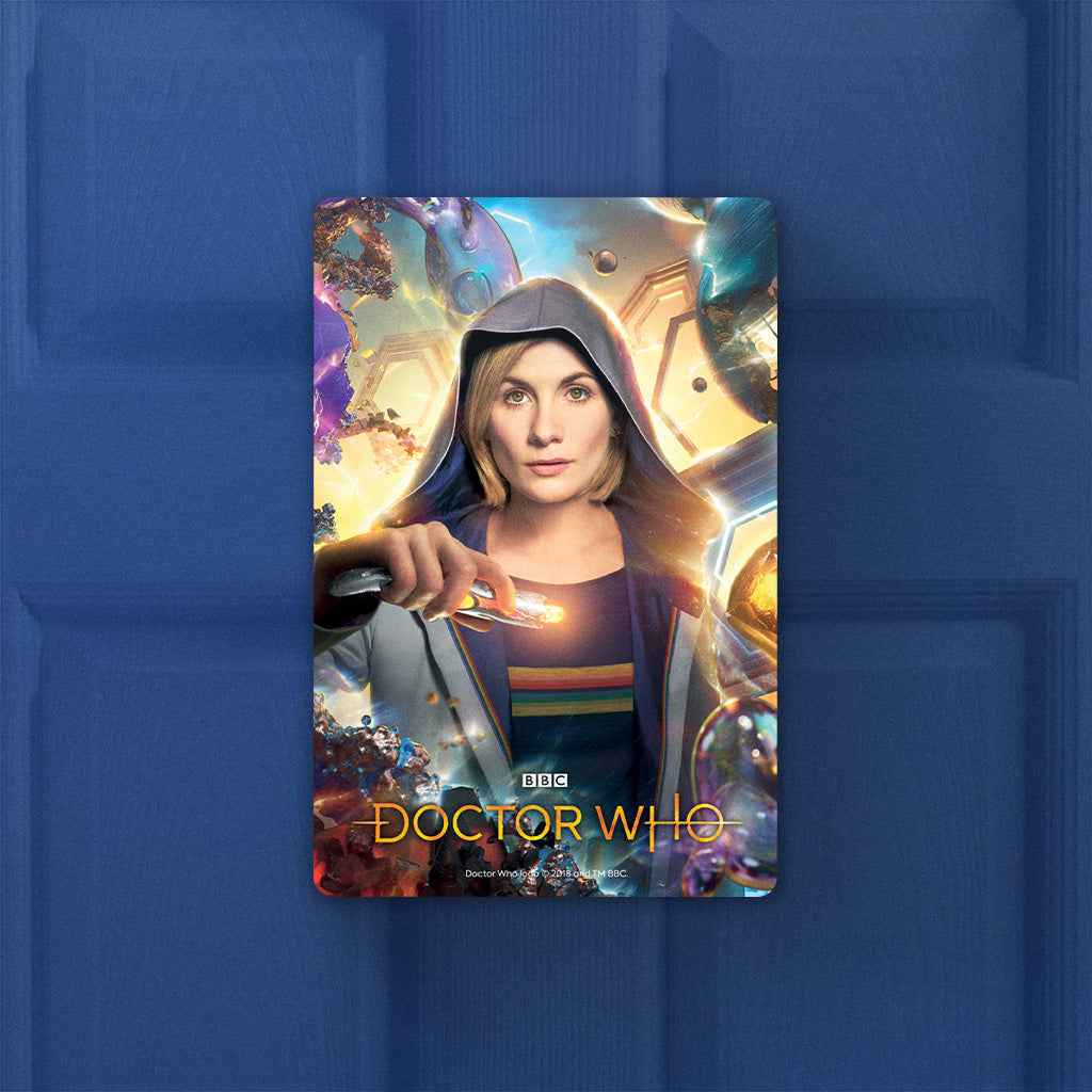 Thirteenth Doctor Hood Door Plaque (Lifestyle)