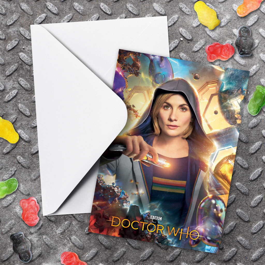 Thirteenth Doctor Hood Greeting Card (Lifestyle)