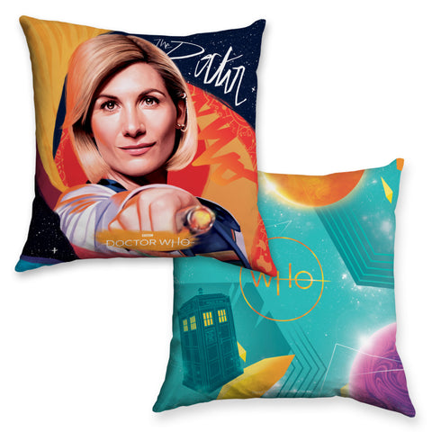 Thirteenth Doctor Sonic Screwdriver Cushion