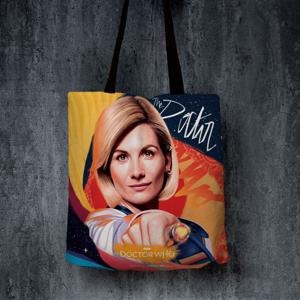 Thirteenth Doctor Sonic Screwdriver Edge to Edge Tote (Lifestyle)