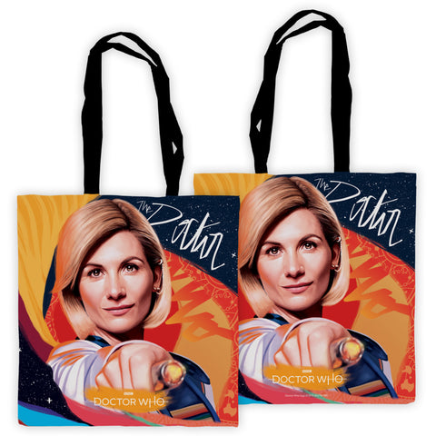 Thirteenth Doctor Sonic Screwdriver Edge to Edge Tote