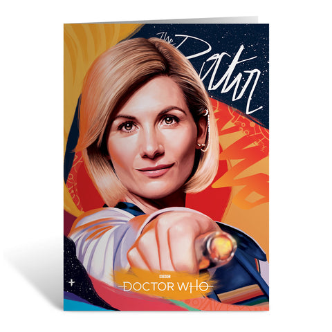 Thirteenth Doctor Sonic Screwdriver Greeting Card