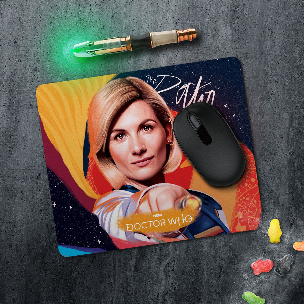 Thirteenth Doctor Sonic Screwdriver Mousemat (Lifestyle)