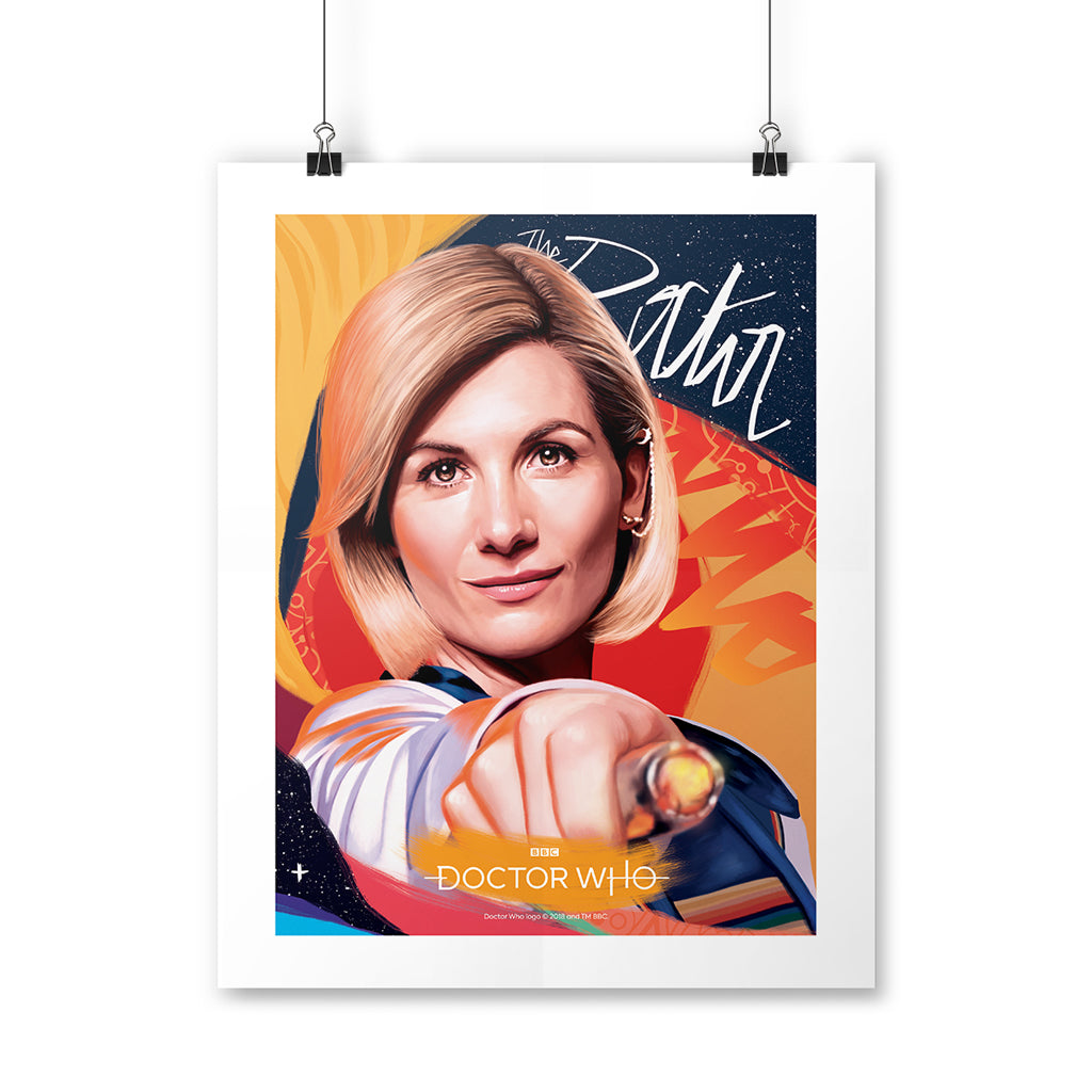 Thirteenth Doctor Sonic Screwdriver Art Print