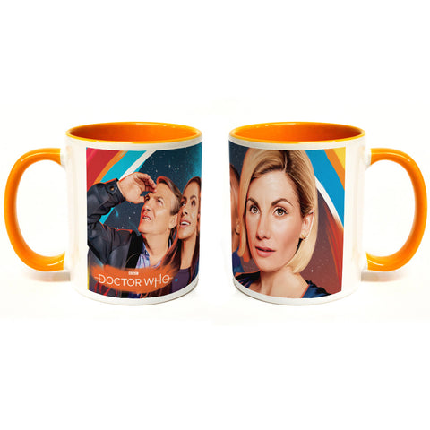 Thirteenth Doctor Group Colour Insert Mug